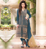 BOUTIQUE STYLE PUNJABI SALWAR KAMEEZ ONLINE EXQUISITE PARTY WEAR SALWAR KAMEEZ SUIT WITH EMBROIDERED BOTTOM AT BEST PRICE