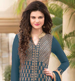 EXQUISITE PARTY WEAR SALWAR KAMEEZ SUIT WITH EMBROIDERED BOTTOM AT BEST PRICE DON'T LET EYES MOVE AWAY FROM YOUR BEAUTY