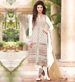 LATEST SALWAR KAMEEZ FASHION FOR MODERN WOMEN STUNNING LATEST FASHION GEORGETTE WHITE SUIT WITH FANCY EMBROIDERED SALWAR