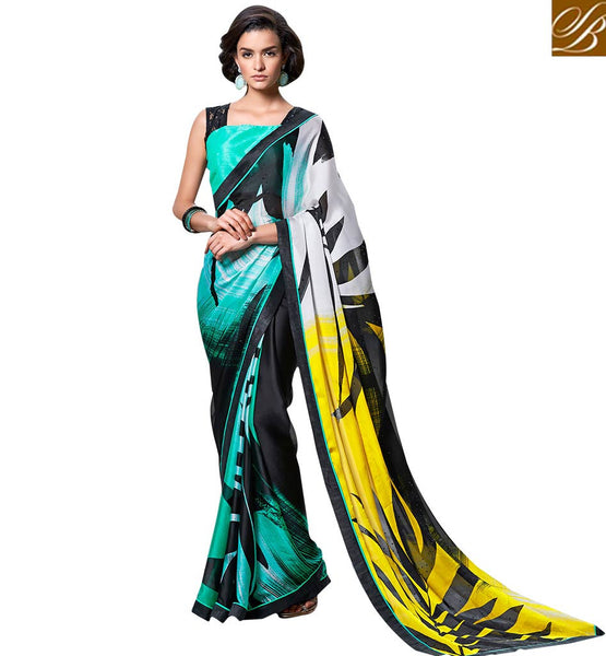 APPEALING PARTY WEAR SAREE DESIGN RTMEN305 BY STYLISH BAZAAR