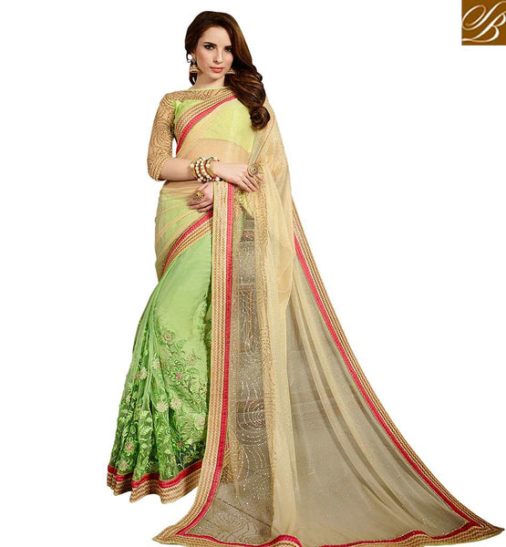 STYLISH BAZAAR PRESENTS FINELY DESIGNED SARI BLOUSE DESIGN FOR PARTIES VDMNY305