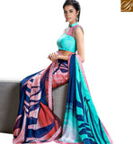 STYLISH BAZAAR PRESENTS CAPTIVATING PRINTED PARTY WEAR SAREE BLOUSE DESIGN RTMEN306