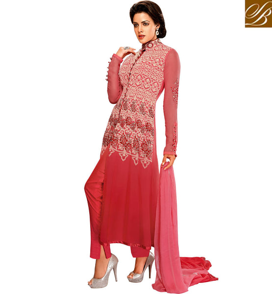 LATEST FASHION FRONT SLIT PATTERN SALWAR KAMEEZ DUPATTA SUIT FOR WOMEN