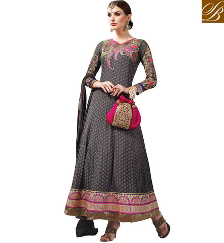 INDIAN WEDDING CLOTHES ONLINE SHOPPING RICH LOOK ANARKALI DRESS