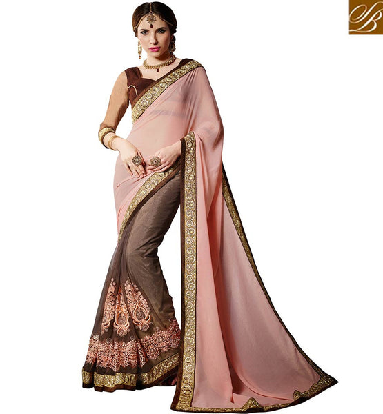 A STYLISH BAZAAR PRESENTATION OUTSTANDING DESIGNER PARTY WEAR SARI VDMNY306