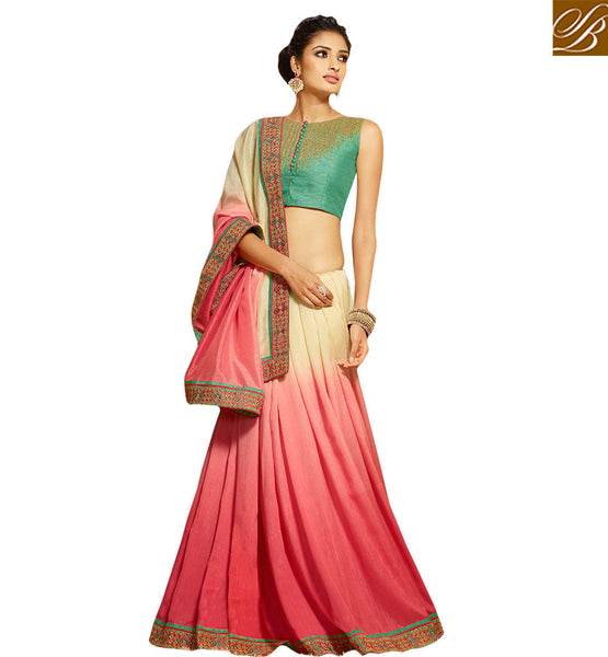 GRACEFUL EMBROIDERED DESIGNER SAREE DESIGN HAW307 BY PINK