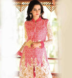 PARTY WEAR SALWAR KAMEEZ SUITS WITH EMBROIDERED BOTTOM