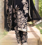 STRAIGHT PATTERN KAMEEEZ WITH TROUSER TYPE SALWAR