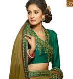 IDEAL DESIGNER SAREE DESIGN FOR PARTIES HAW309 BY GREEN