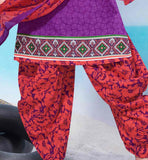 MAKE YOUR EVERYDAY OUTINGS A STYLISH AFFAIR BY WEARING THIS SMART PRINT WORK DRESS SHALWAR KAMEEZ DESIGNS PARTY WEAR PATIALA STYLE INDIAN DRESS FOR WOMEN