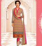 PARTY WEAR SALWAR KAMEEZ DUPATTA SET FASHIONABLE STRAIGHT CUT DESIGN