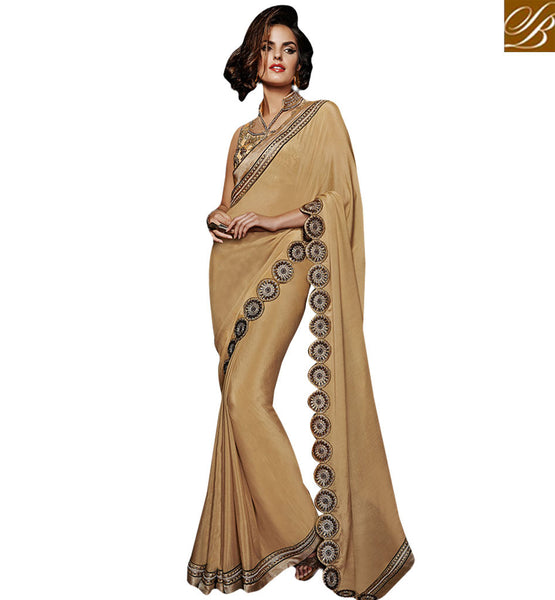 EXQUISITE GEORGETTE SAREE WITH EXCELLENT BORDER AND STUNNING BLOUSE