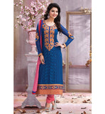 ATTRACTIVE GEORGETTE SALWAR KAMEEZ WITH DUPATTA RTTJ3101 - StylishBazaar - Georgette Salwar Kameez, Georgette Salwar Suits, Designer wear, Georgette Anarkali, Georgette Anarkali Suits, Shop Online for Georgette Suits, Online Shopping India, Georgette Dresses