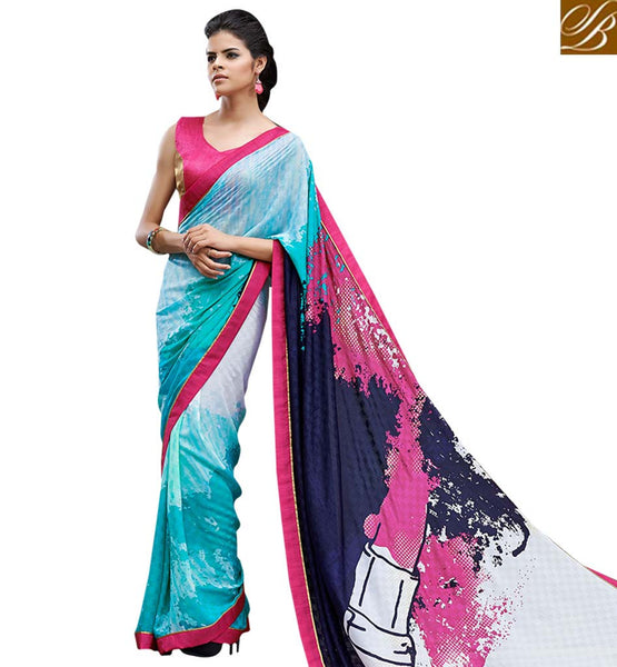 ENTICING DIGITAL PRINTED SAREE RTMEN310 BY FROM STYLISH BAZAAR
