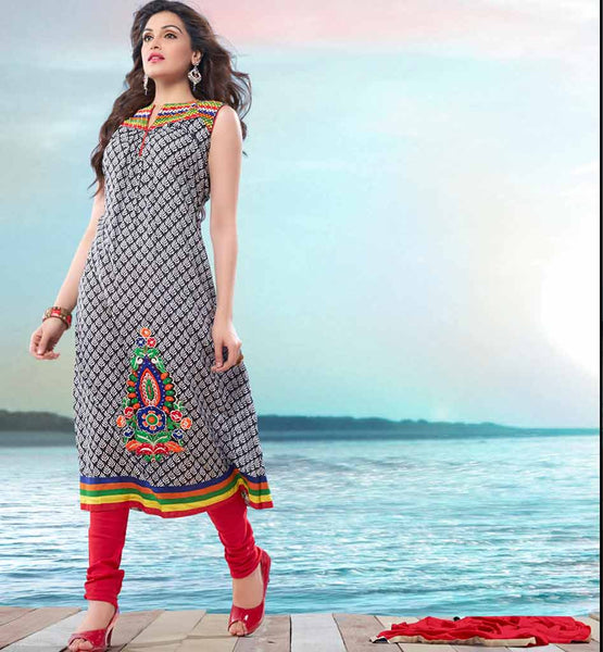 LATEST COTTON PRINTED SALWAR KAMEEZ DUPATTA DRESS MATERIAL FOR WOMEN