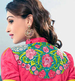 back embroidery on the womens salwar suit