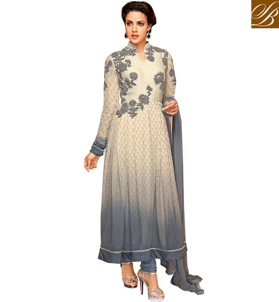 PURCHASE PARTY WEAR CLOTHING FOR INDIAN WOMEN TRENDY SHADED ANARKALI