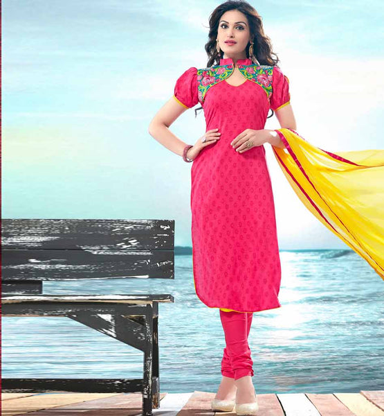 SHOP ONLINE COMFORTABLE COTTON SALWAR SUIT MATERIAL CHIFFON DUPATTA
