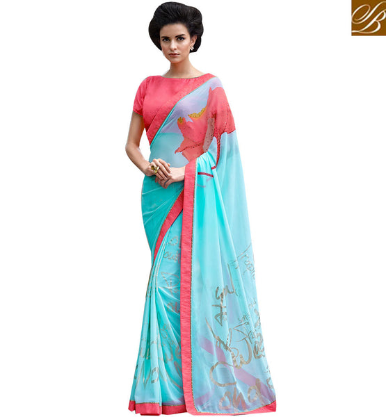 A STYLISH BAZAAR PRESENTATION GOOD-LOOKING PARTY WEAR SARI RTMEN315