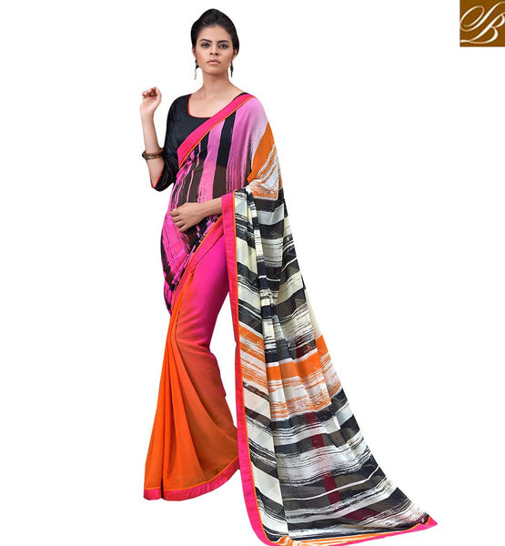 FROM THE HOUSE  OF STYLISH BAZAAR LOVELY DIGITAL PRINTED SAREE DESIGN RTMEN318