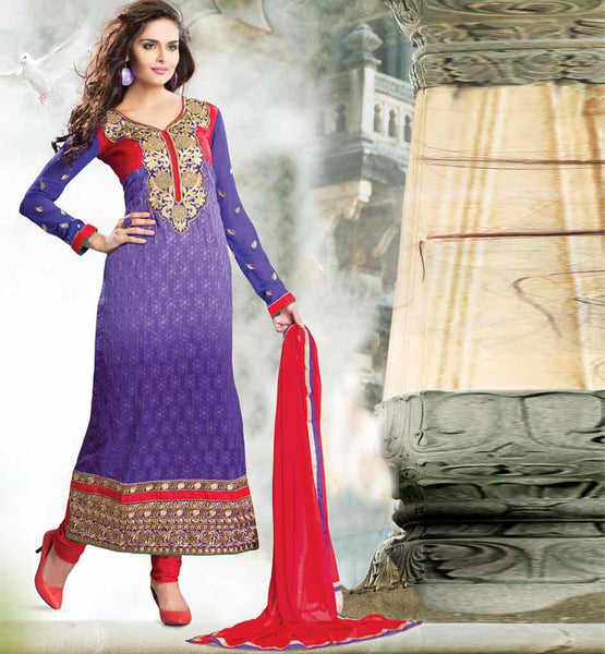 PURPLE PARTY WEAR SALWAR SUIT RTURM3204