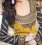 YELLOW PARTY WEAR SALWAR SUIT RTURM3205