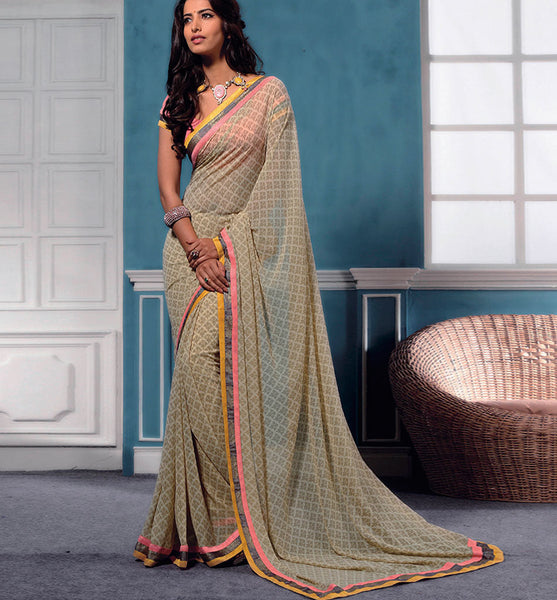 PRINTED GEORGETTE CASUAL WEAR SAREE VSBM32725 - stylishbazaar - buy sarees online, buy online sarees, indian sarees buy online, buy sarees online india, saree buy online, indian saree buy online