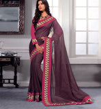 COFFEE GEORGETTE CASUAL WEAR SAREE VSBM32727 - stylishbazaar -Saris, Sarees, Buy Online Sarees, Buy Sarees Online, Partywear Sarees, Designer Saris, Saree Online Shoppping, Saree Designs, Blouse Designs