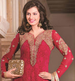 RED PARTY WEAR SALWAR SUIT RTAAK3302