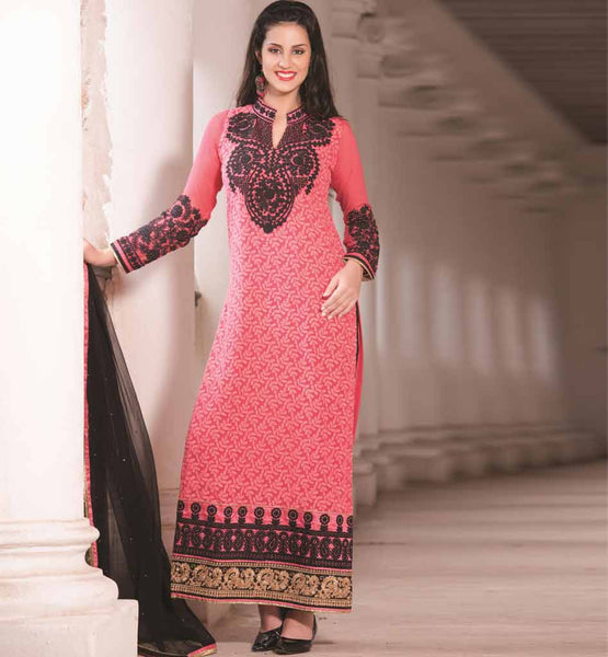 RED PARTY WEAR SALWAR SUIT RTAAK3305