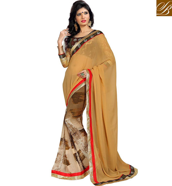 LOVELY DESIGNER SAREE SPECIALLY CREATED FOR PARTIES VDMNK3305  BY BEIGE