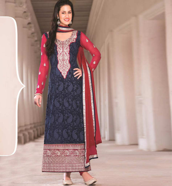 BLUE PARTY WEAR SALWAR SUIT RTAAK3307