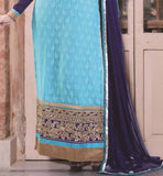 BLUE PARTY WEAR SALWAR SUIT RTAAK3308