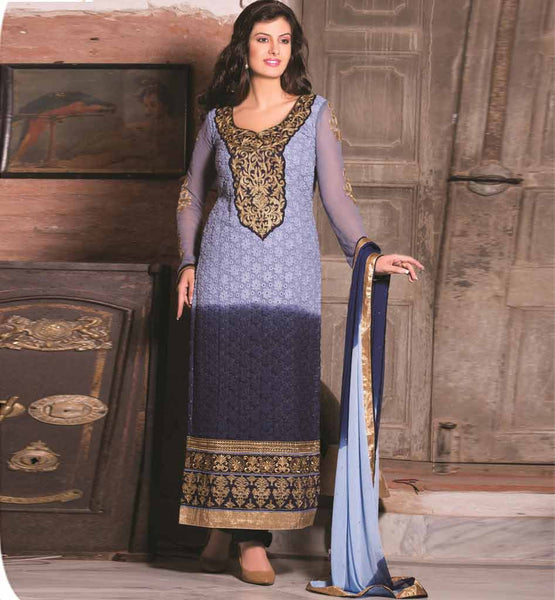SHADED PARTY WEAR SALWAR SUIT RTAAK3309