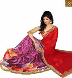 NICE DIGITAL PRINTED DESIGNER SAREE VDMNK3312 RED