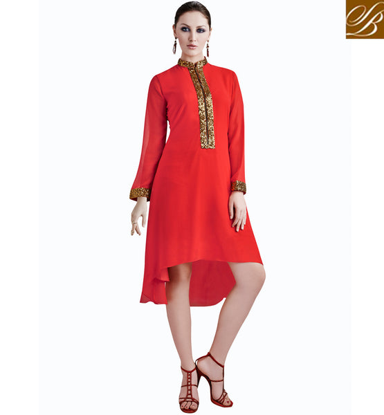 WOMEN LATEST INDIAN TUNIC TOPS ONLINE SHOPPING VDETC34