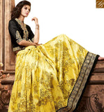 A STYLISH BAZAAR PRESENTATION ATTRACTIVE BLACK AND YELLOW SILK LEHENGA CHOLI ONLINE SHOPPING WITH BEST PRICE SLMSH3604