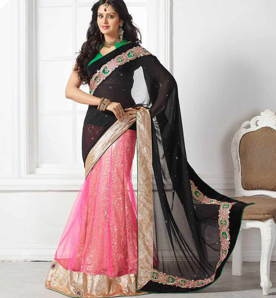 EYE CATCHING PARTY WEAR LEHENGA SARI RTCHA368