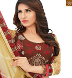 FROM STYLISH BAZAAR AMAZING MAROON COLORED CASUAL WEAR SAREE AMMD3701
