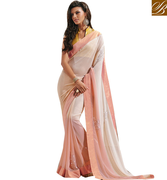 STYLISH BAZAAR ANGELICALLY DESIGNED OCCASION WEAR SARI DESIGN VDCHP37010
