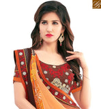 FROM THE HOUSE OF STYLISH BAZAAR MODISH LIGHT ORANGE COLORED CASUAL WEAR SAREE AMMD3702