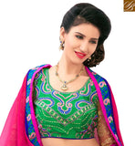 BROUGHT TO YOU BY STYLISH BAZAAR BEAUTIFUL PINK AND BLUE COLORED FLORAL PRINTED SAREE AMMD3703