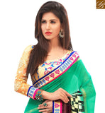 STYLISH BAZAAR PRESENTS CHARMING SEA GREEN COLORED CASUAL WEAR SAREE AMMD3705