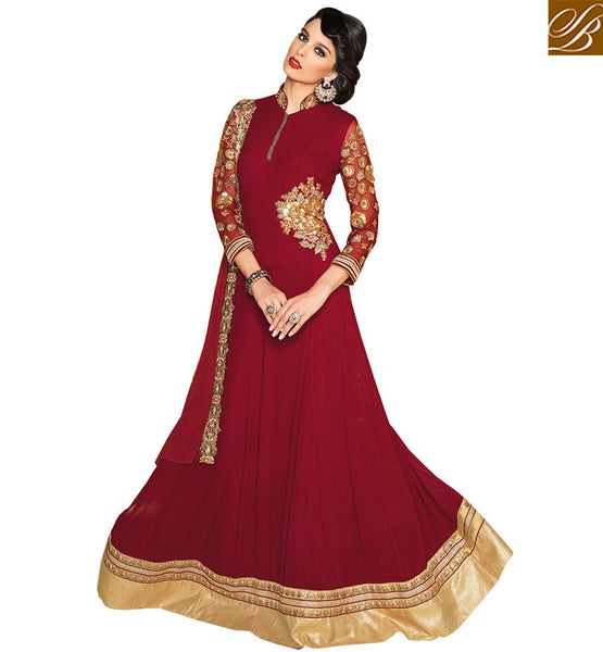 ENTHRALLING DESIGNER ANARKALI SUIT FOR PARTIES VPL3706 BY STYLISH BAZAAR