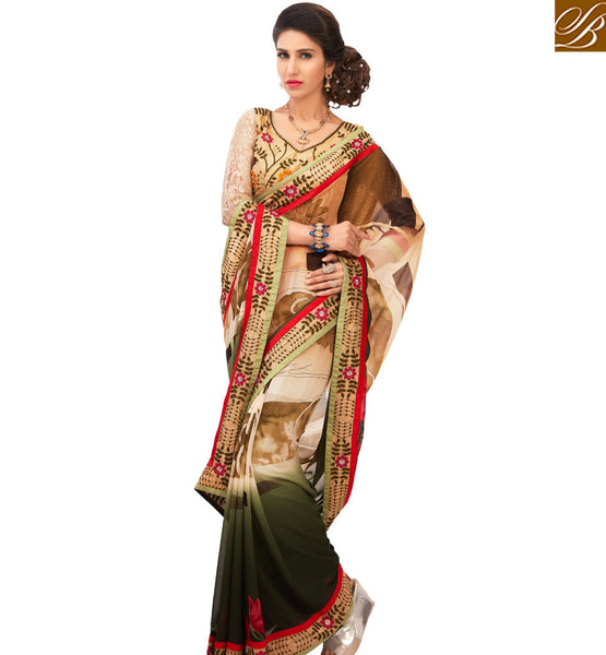 STYLISH BAZAAR ENTICING MULTICOLORED CASUAL WEAR SAREE AMMD3717
