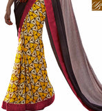 MAJESTIC BEAUTIFUL PRINTED SAREE HAVING JACQUARD WEAVING ON PALLU WITH BORDER WORK SAREE DRESSES SMART COMBO WITH ETHNIC WEAR INDIAN BLOUSE DESIGNS