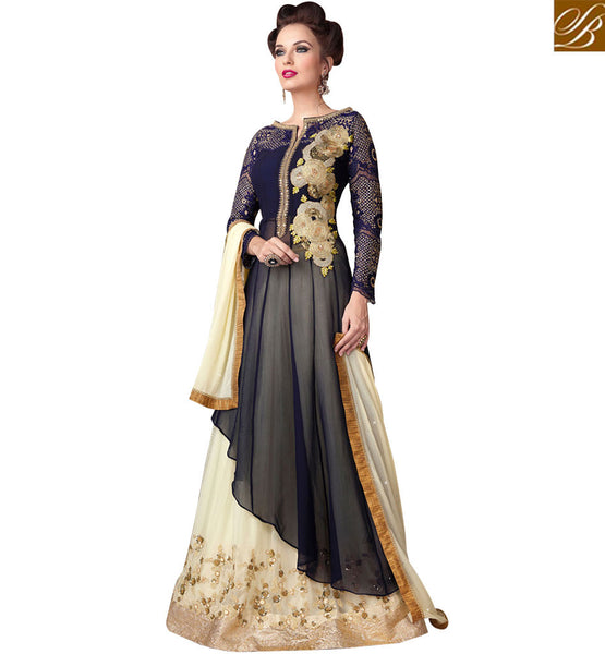 STYLISH BAZAAR ATTRACTIVE BLUE DESIGNER LEHENGA STYLE DRESS RTSWR3801