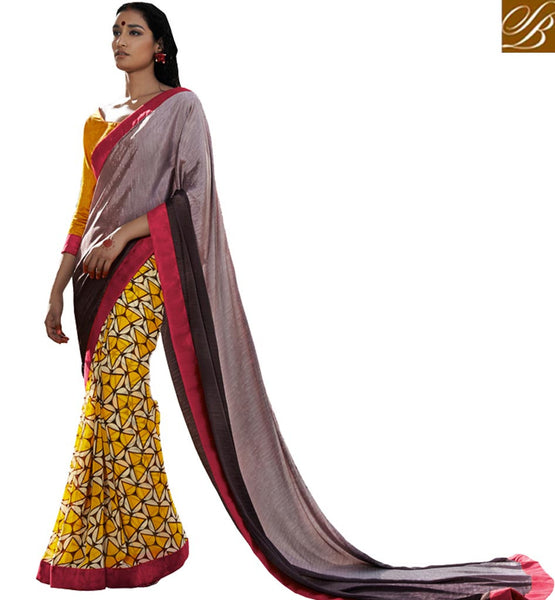 FROM STYLISH BAZAAR WONDERFULLY DESIGNED PRINTED SARI DESIGN VDMRN38032