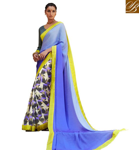 A STYLISH BAZAAR TRENDY CASUAL WEAR PRINTED SARI VDMRN38034