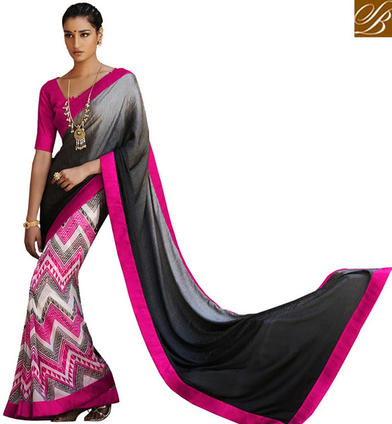 STYLISH BAZAAR PRESENTS EXOTIC PRINTED SARI BLOUSE DESIGN VDMRN38035
